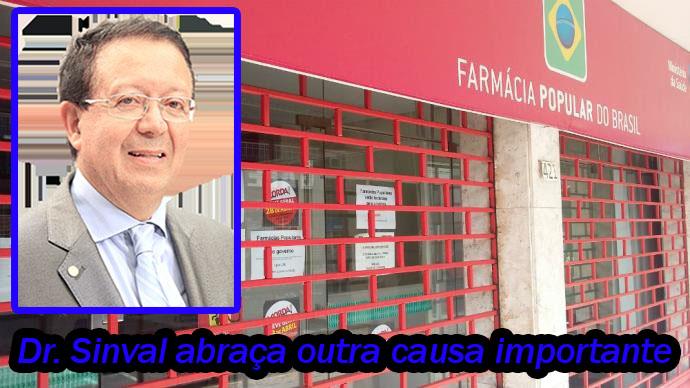 Dr. Sinval será vice-presidente da Frente Parlamentar em Defesa da Farmácia Popular