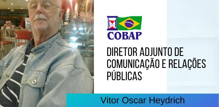 Comunicação da COBAP tem Vitor Heydrich como diretor adjunto