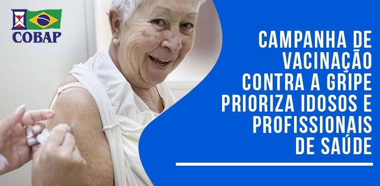 Campanha de vacinação começa nesta segunda-feira e prioriza idosos
