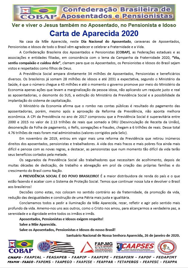 Carta de Aparecida 2020