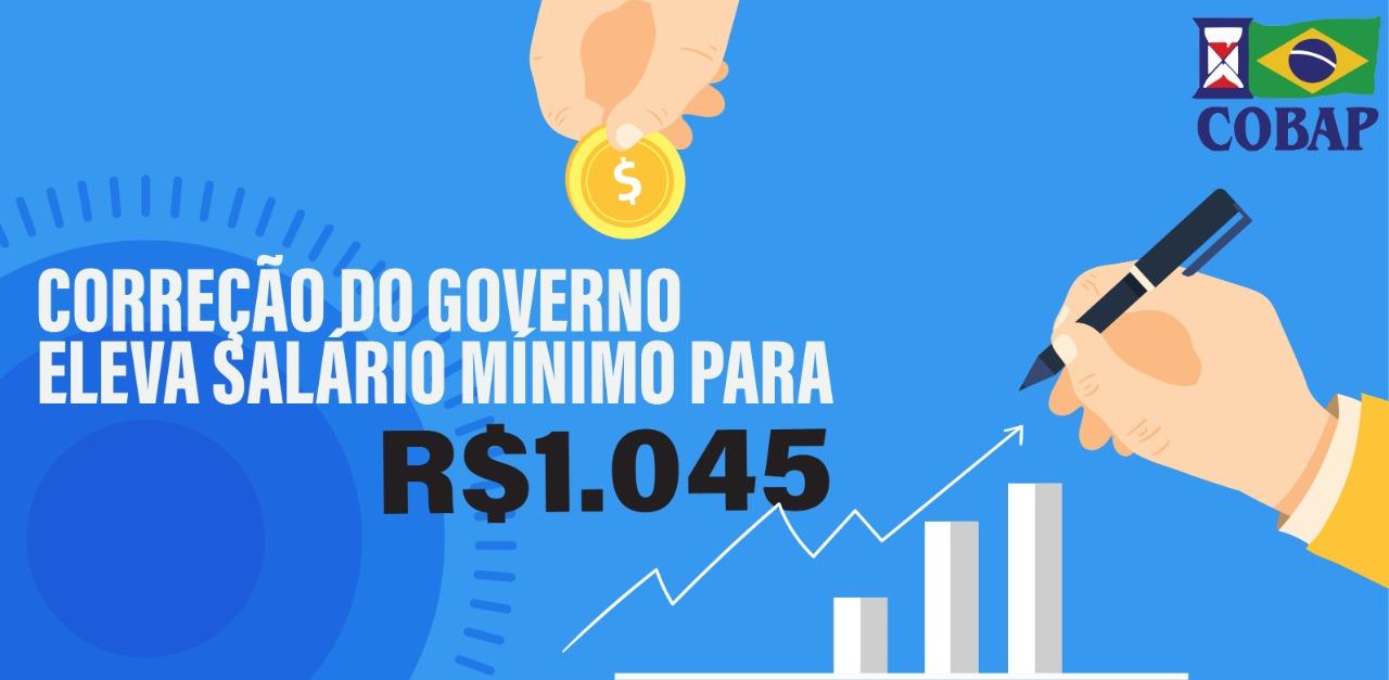 Governo erra e faz nova correção do salário mínimo para R$ 1.045