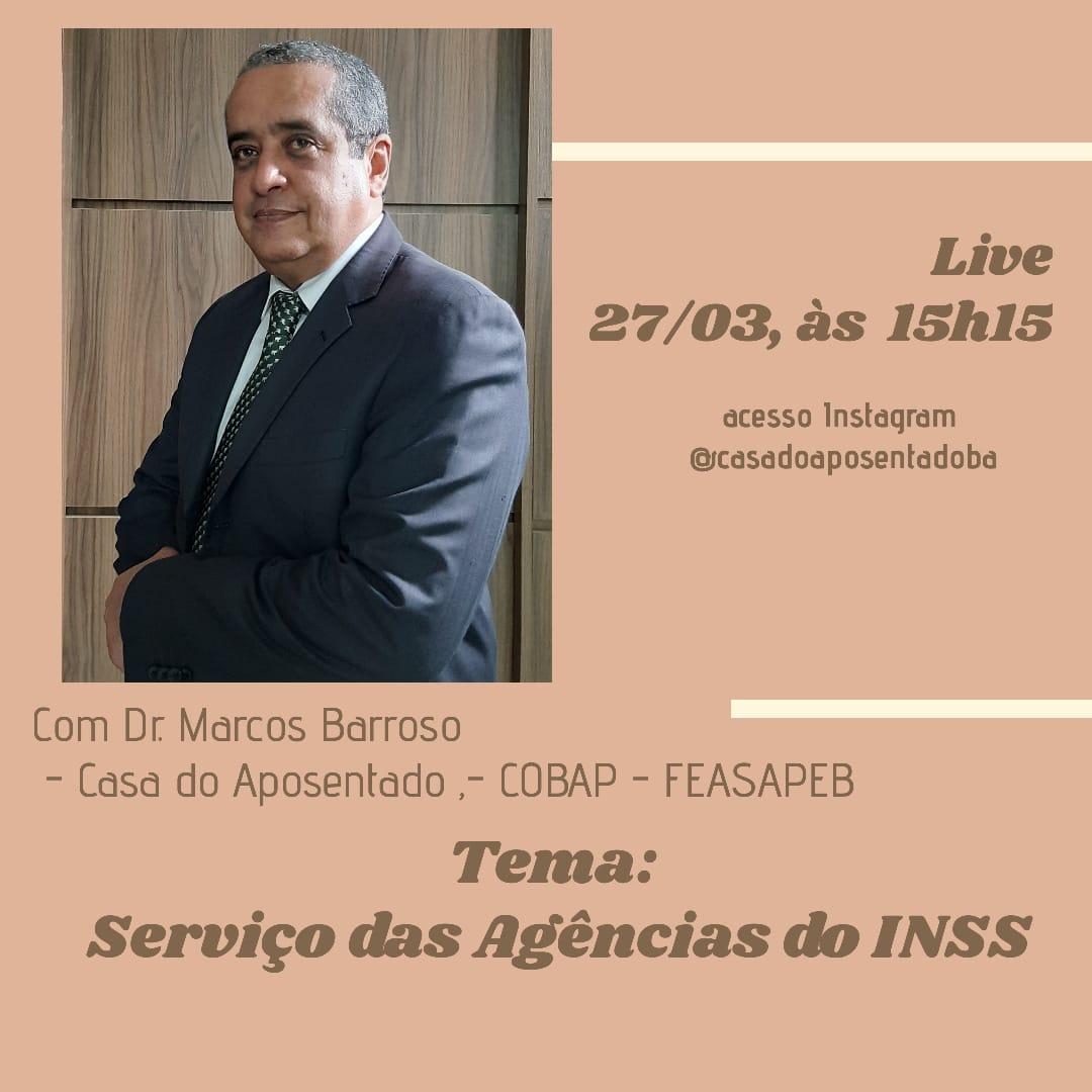 Serviço das Agências do INSS será tema de Live no Instagram nesta sexta, 15h15. Participe!