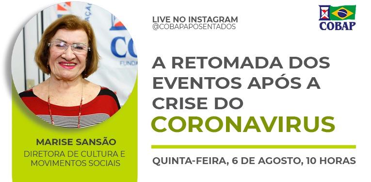 LIVE NO INSTAGRAM: Marise Sansão fala sobre a retomada dos eventos após crise do coronavírus